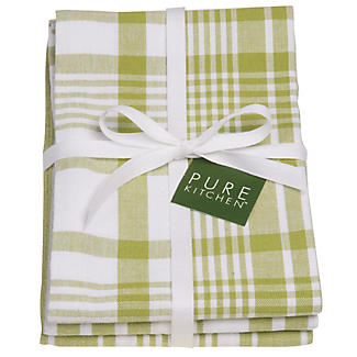 3 Cactus Jumbo Check Tea Towels