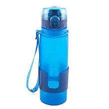 500ml Silicone Water Bottle - Blue