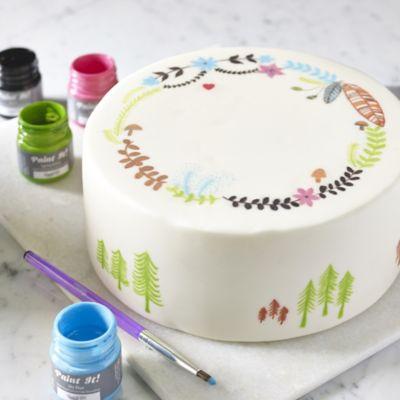 Edible Cake Decorating Colourful Food Paints 25ml X6 Lakeland