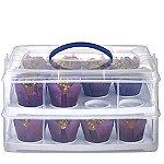 Kuchen-/Cupcake-Transportbox mit 2 Etagen