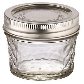 4 Ball Regular Mouth Quilted Crystal Mason Preserving Jars 135ml alt image 3