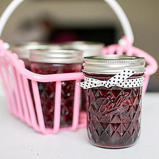6 Ball Regular Mouth Quilted Crystal Mason Preserving Jars 240ml alt image 6