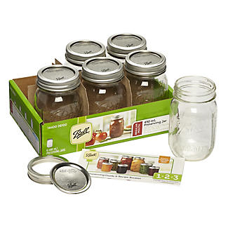 6 Ball Regular Mouth Mason Preserving Jars 490ml alt image 11