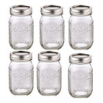 6 Ball Regular Mouth Mason Preserving Jars 490ml