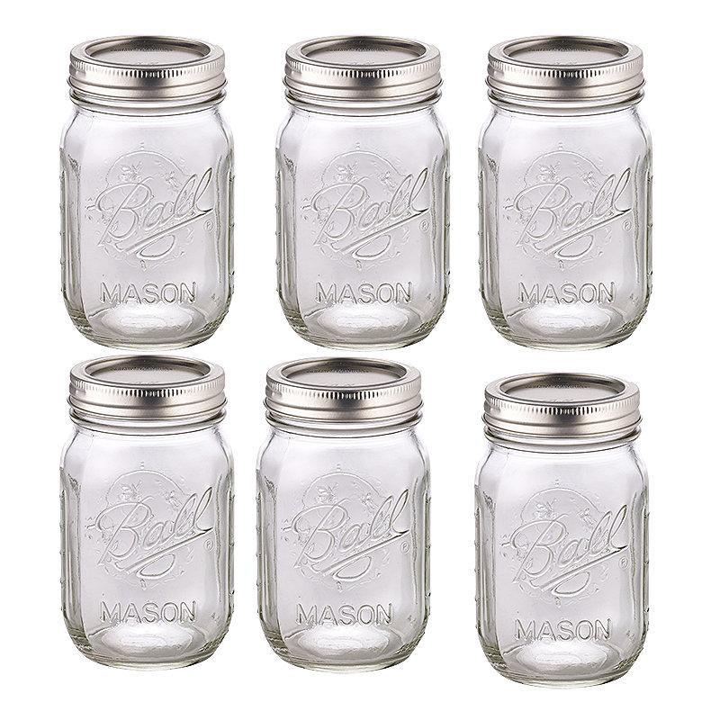 Ball Mason Glass Preserving Homemade Jam Gift Jars 490ml