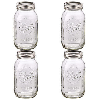 4 Ball Regular Mouth Mason Preserving Jars  945ml