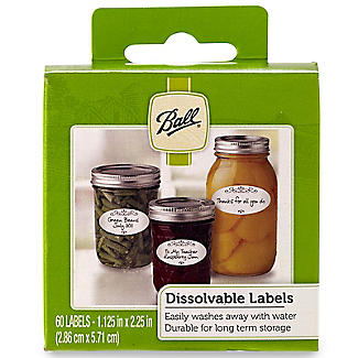 60 Ball Adhesive Dissolvable Jam Jar Labels - White Oval alt image 3