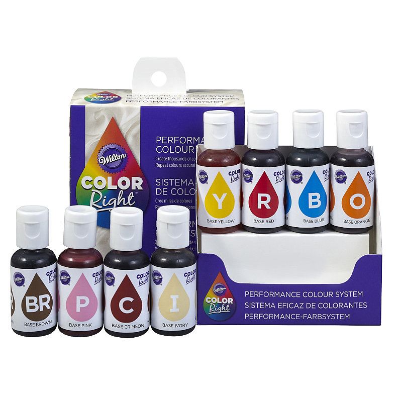 Wilton Colour Right System Food Colourings 8 Pack With Colour