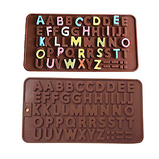 Alphabet Letters Silicone Chocolate Mould alt image 1