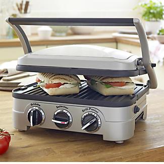 Cuisinart der Griddler Multifunktionsgrill mit 6 Garoptionen  Cuisinart Grill mit Kochplatte GR4CU  alt image 2