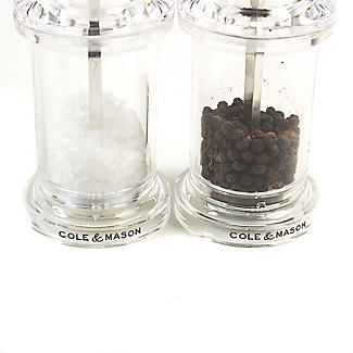 Cole & Mason Clear Acrylic Salt & Pepper  Set alt image 3