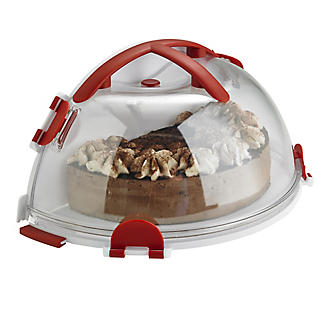 Fold 'n' Store Cake Carrier Caddy & Clear Lid - Round 31cm Cakes alt image 3