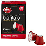 10 Saquella Bar Italia Coffee Pods - Espresso Intenso Fits Nespresso