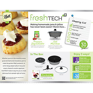 Ball freshTECH Jam and Jelly Maker FTJM-AU-15-01 alt image 8
