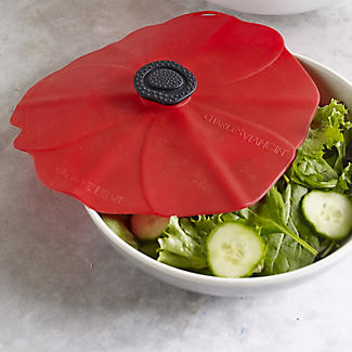 Silicone Poppy Bowl Cover and Splatter Guard 28cm alt image 2