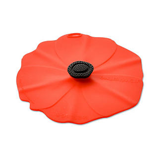 Silicone Poppy Bowl Cover and Splatter Guard 28cm alt image 3