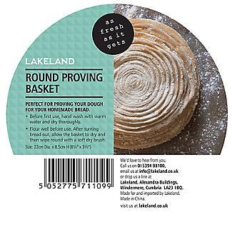 Round Homemade Bread Dough Proving Basket 22cm alt image 6