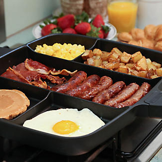 Master Pan Divided Frying Pan For Cooked Breakfast alt image 3