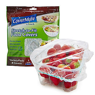 Covermate 8 Assorted Elasticated Food Covers – S M and L