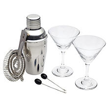 Bar Craft 6-Piece Mini Martini Cocktail Set
