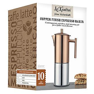 Le'Xpress Copper Finish Stovetop Espresso Maker  alt image 2