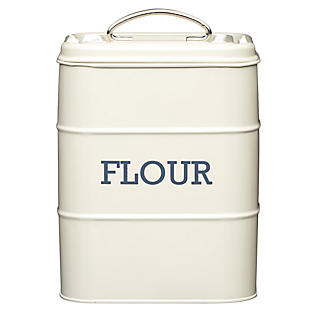 Living Nostalgia Antique Cream Flour Tin