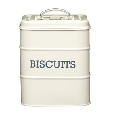 Living Nostalgia Biscuit Tin Antique Cream Lakeland