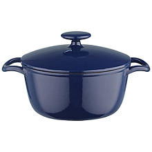 Lakeland 20cm Midnight Blue Round Cast Iron Casserole