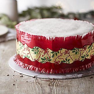 Red and Gold Christmas Cake Frill  alt image 2