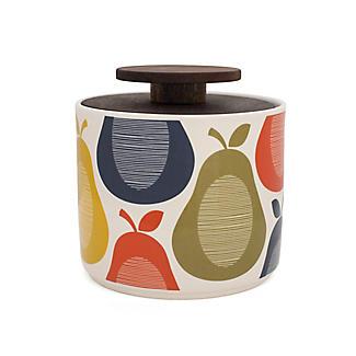 Orla Kiely 1 Litre Pear Print Storage Jar Lakeland