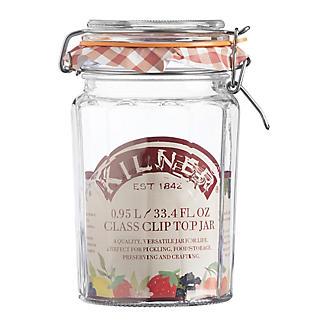 Kilner® Large Clip Top Faceted Glass Jam Jar & Lid 950ml alt image 3