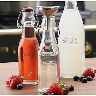 3 Kilner Square Clip Top Bottles 1L alt image 2