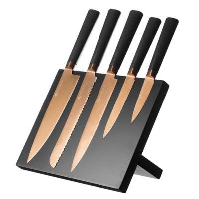 Viners Titan Copper Kitchen Knife Amp Magnetic Knife Rack