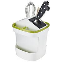 ILO drehbarer Messer- & Küchenutensilienhalter Weiß/Grün