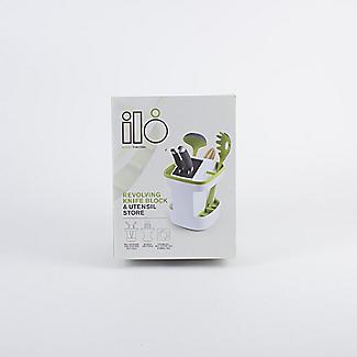 ILO Revolving Knife Block & Utensil Store White/Green alt image 9