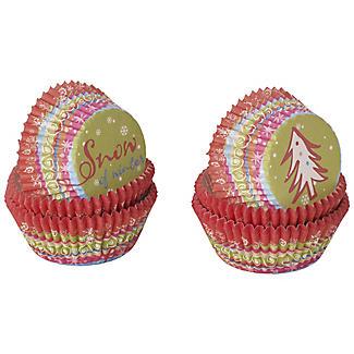 100 Christmas Fun Mini Cupcake Cases
