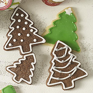 3 Copper Plated Christmas Tree Cutters alt image 2
