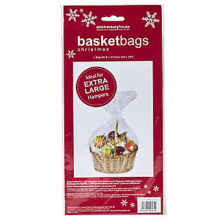 Clear Christmas Hamper Basket Bag 60 x 63cm alt image 2