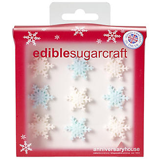 9 Sparkly Snowflake Sugarcraft Cake Toppers alt image 3