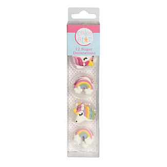 Cake Star Unicorn and Rainbow Sugar Piping Cake Toppers