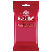 Renshaw Ready to Roll Coloured Icing - 250g Fuchsia Pink