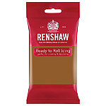 Renshaw Ready to Roll Coloured Icing - 250g Teddy Bear Brown