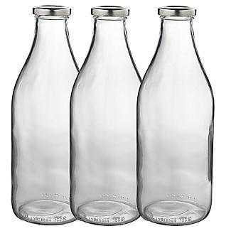 1-Liter-Milchflaschen 3er-Set