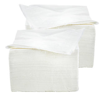 White Disposable Napkins 2 x 100 Bundle