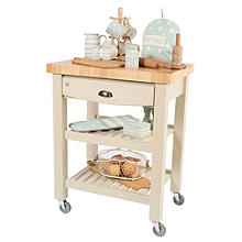 T&G Pembroke Trolley with Hevea Worktop