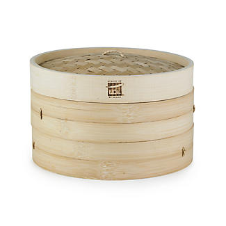 School of Wok 2-Tier Bamboo Steamer alt image 3