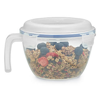 Lock and Lock Lidded Cereal Bowl with Handle