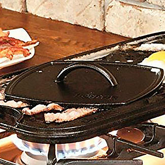 Lodge Cast Iron Flat Grill Press 21cm alt image 2