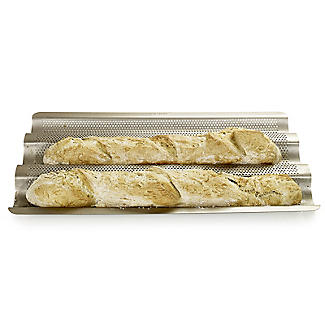 Perforated 3 Baguette Baking Tray alt image 2
