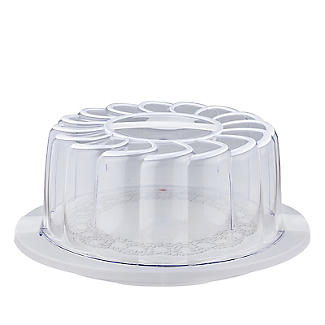 Doily Effect Cake Carrier - Round Holds 28cm Cakes